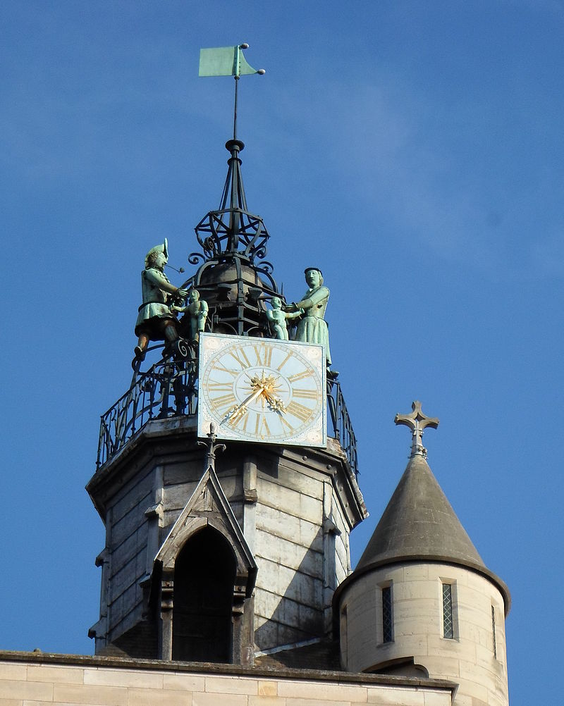 Dijon (Côte d'Or) L'église Notre-Dame, le Jacquemart