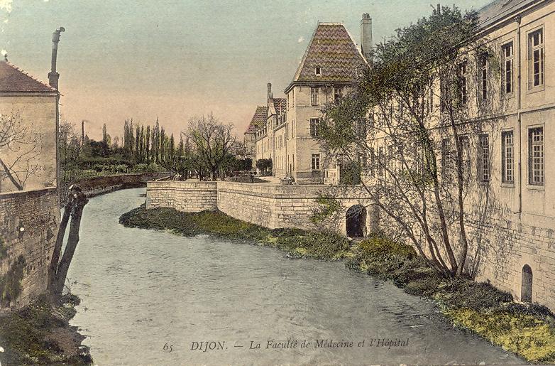 Dijon (Côte d'Or) L'Hôpital et la Faculté de Médecine CPA