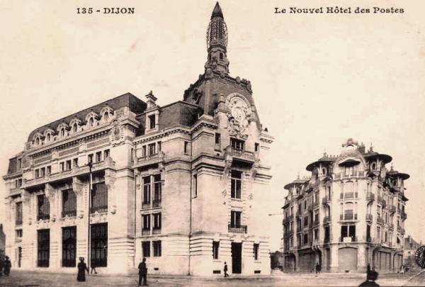 Dijon (Côte d'Or) L'Hôtel des Postes CPA