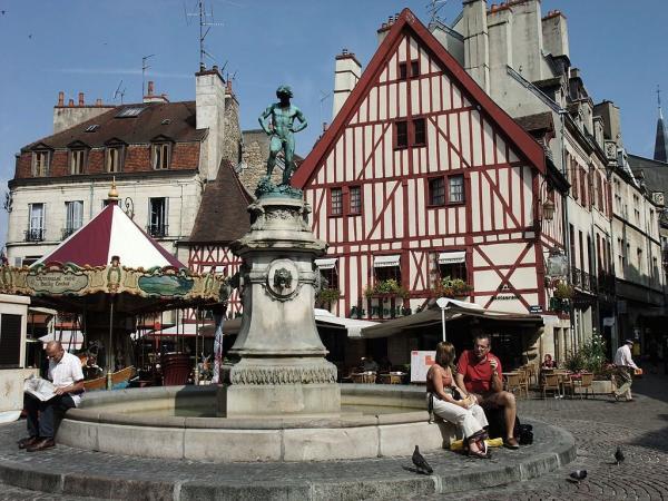 Dijon (Côte d'Or) La fontaine du bareuzei, place François Rude