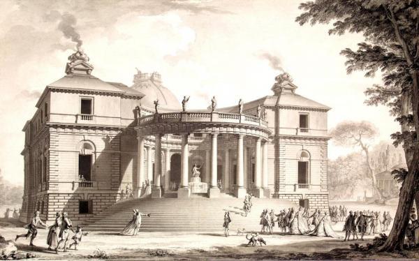 Dijon (Côte d'Or) Le château de Montmusard en 1795, gravure
