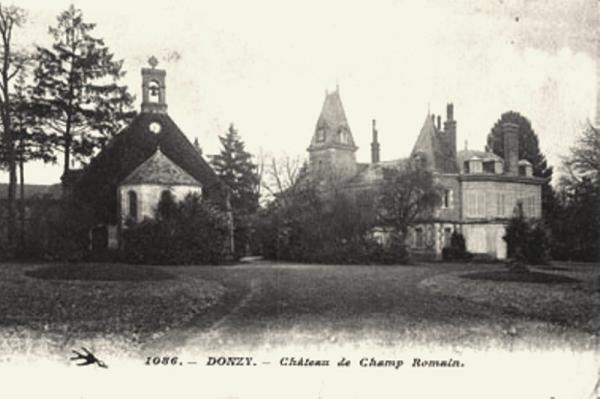 Donzy (Nièvre) Champromain, le château CPA