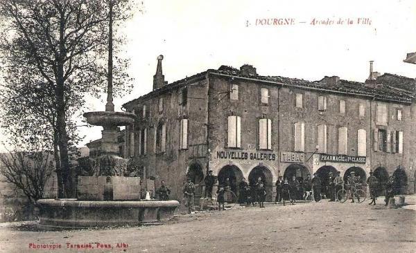 Dourgne (Tarn) CPA arcades