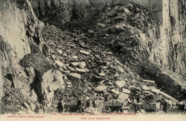 Dourgne (Tarn) CPA ardoisière de Limatge