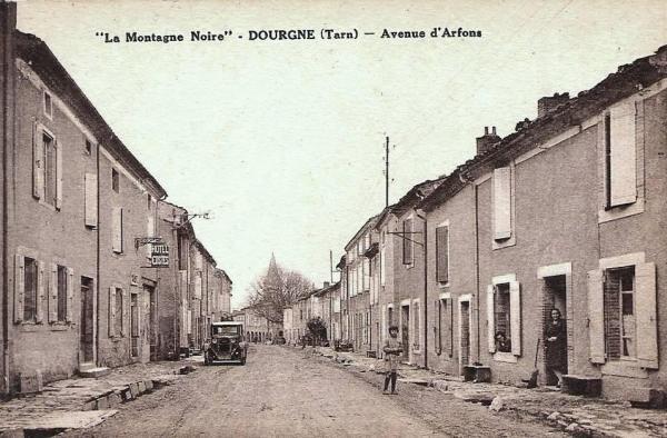 Dourgne (Tarn) CPA avenue d'arfons