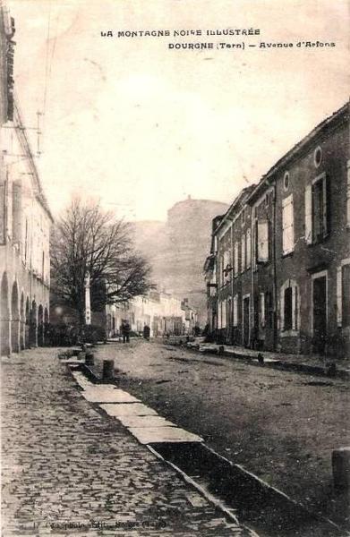 Dourgne (Tarn) CPA avenue d'Arfons, les canaux