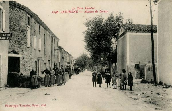 Dourgne (Tarn) CPA avenue de Sorèze