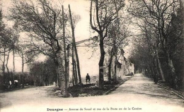 Dourgne (Tarn) CPA avenue de Soual
