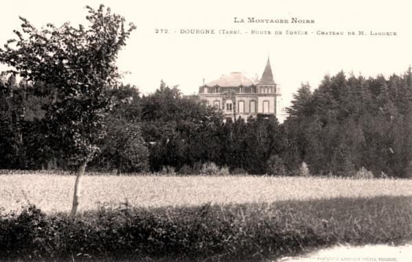Dourgne (Tarn) CPA château de M. Lagorce