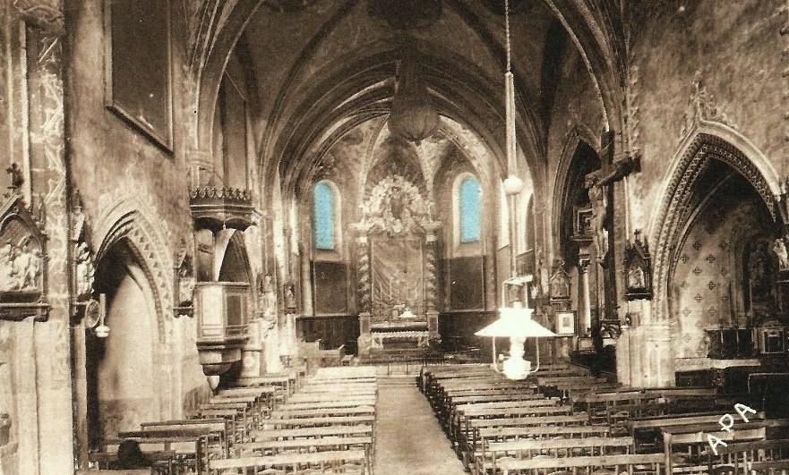 Dourgne (Tarn) CPA Eglise Saint Stapin