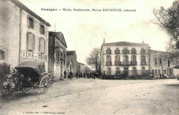 Dourgne (Tarn) CPA mairie et gendarmerie