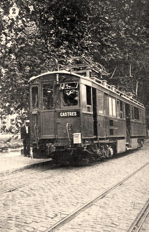 Dourgne (Tarn) CPA Train électrique