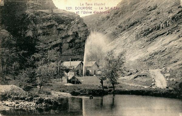 Dourgne (Tarn) CPA Usine électrique