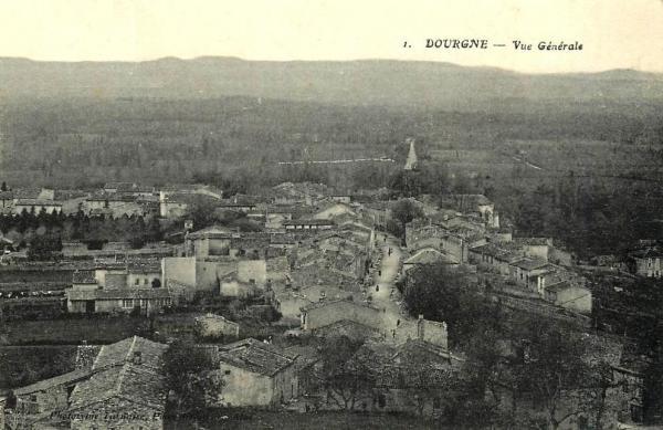 Dourgne (Tarn) CPA Vue générale