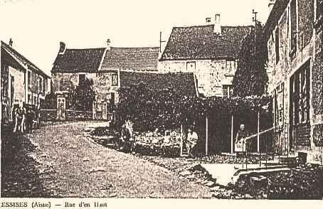 Essises (Aisne) CPA rue d'en-haut