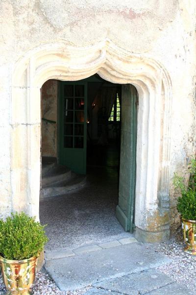 Fayet (Aveyron) Château de Fayet, porte