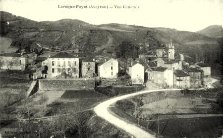 Fayet (Aveyron) CPA Laroque, vue générale