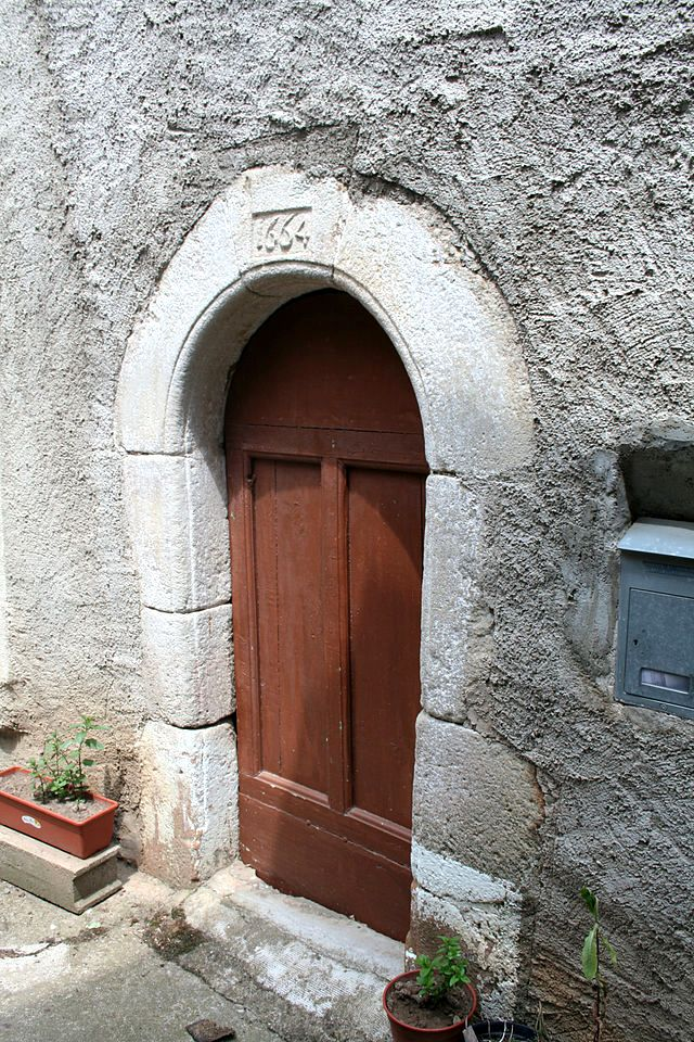 Fayet (Aveyron) Porte de 1664