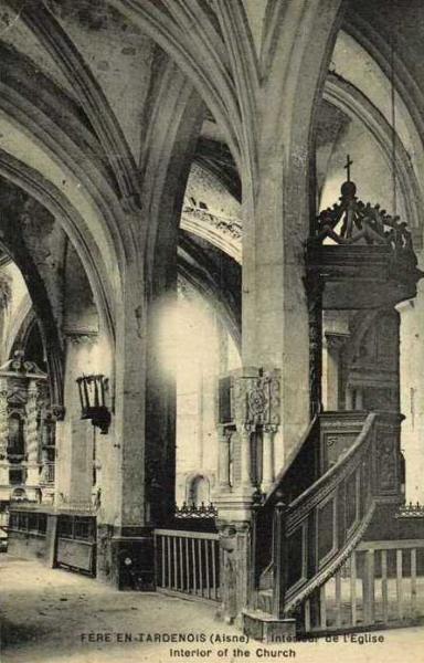 Fère-en-Tardenois (Aisne) CPA L'église, intérieur