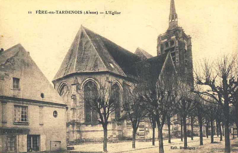 Fère-en-Tardenois (Aisne) CPA L'église Sainte Macre