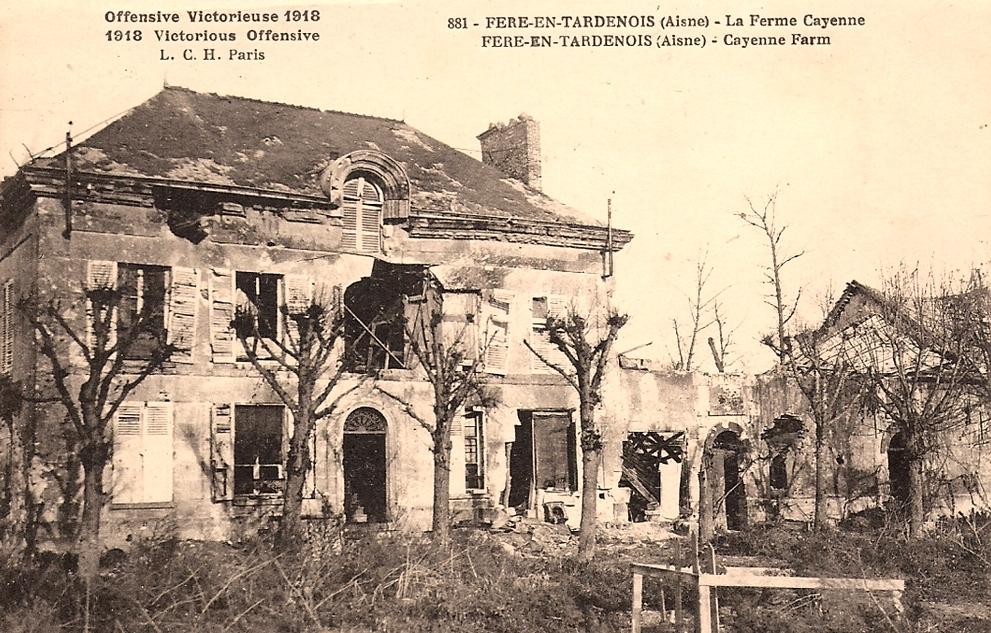 Fère-en-Tardenois (Aisne) CPA Ferme de Cayenne 14-18