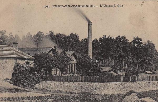 Fère-en-Tardenois (Aisne) CPA l'usine à gaz