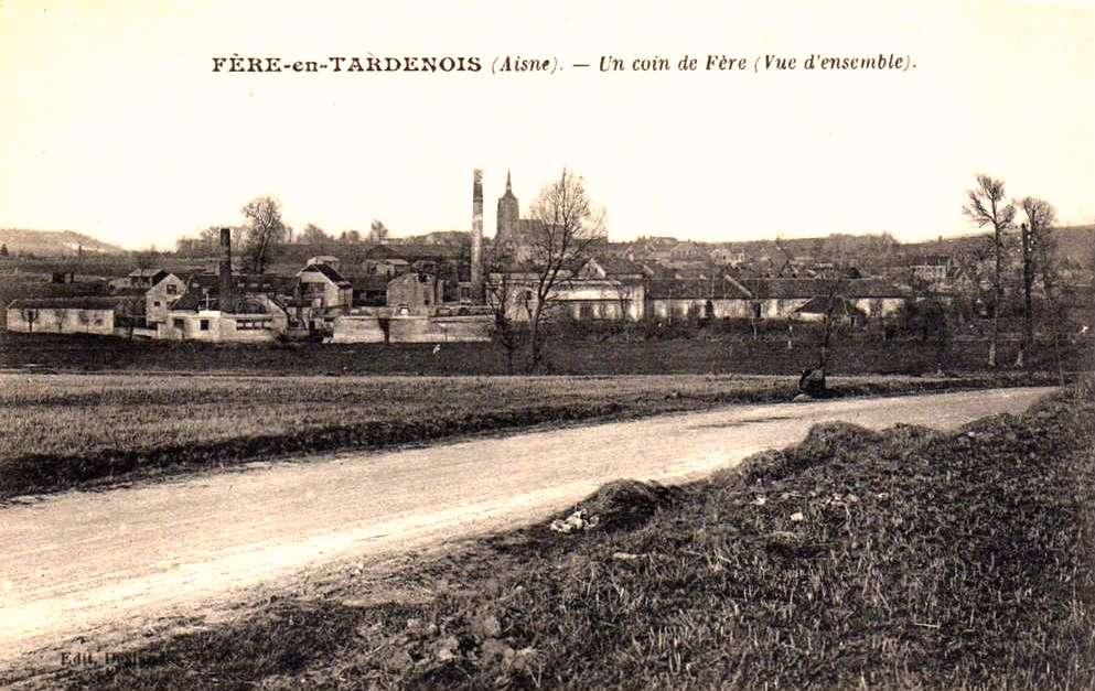 Fère-en-Tardenois (Aisne) CPA l'usine vue arrière