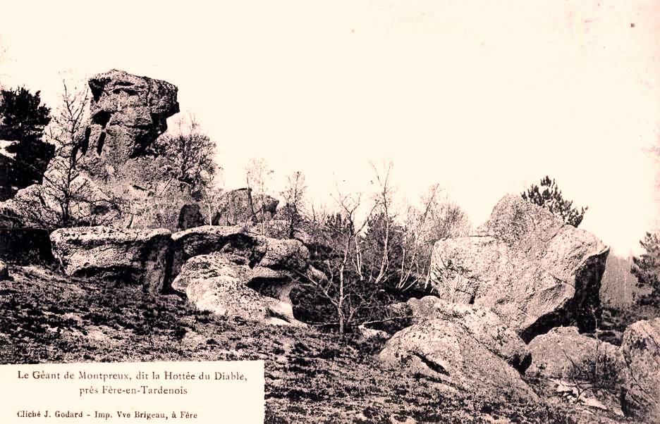 Fère-en-Tardenois (Aisne) CPA la Hottée du diable