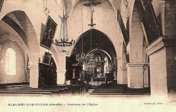 Fleurey-sur-Ouche (Côte d'Or) L'église CPA