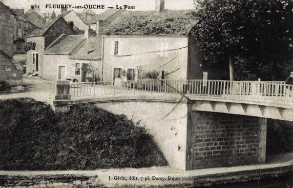Fleurey-sur-Ouche (Côte d'Or) Le pont CPA