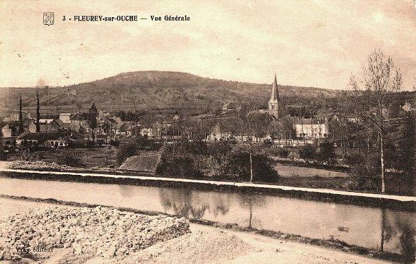 Fleurey-sur-Ouche (Côte d'Or) Vue générale CPA