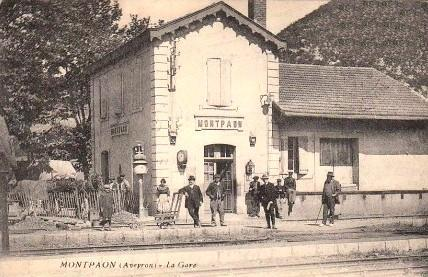 Fondamente (Aveyron) CPA Montpaon, la gare