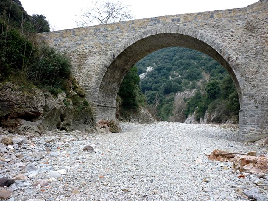 Ganges (Hérault) Le pont des chèvres CPA
