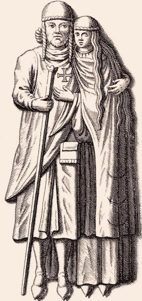 Gérard Ier d'Alsace et son épouse Hadwide de Namur
