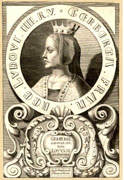 Gerberge de Saxe, son épouse
