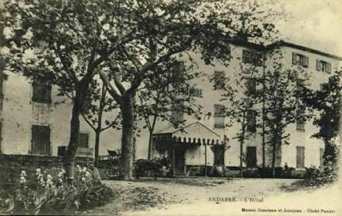 Gissac (Aveyron) CPA Andabre, Hôtel