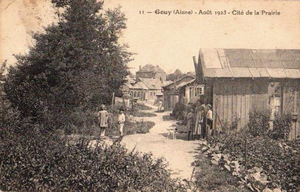 Gouy (Aisne) CPA Cité de la prairie 1923
