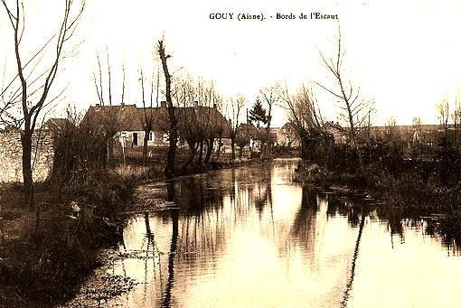 Gouy (Aisne) CPA L'Escaut
