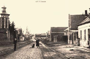 Gouy (Aisne) CPA rue