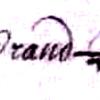 Grandpierre Jeanne (1665/1747) épouse Antoine Breton, sa signature en 1696