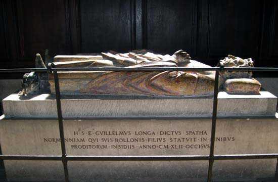 Guillaume Ier dit Longue Epée, gisant cathédrale de Rouen