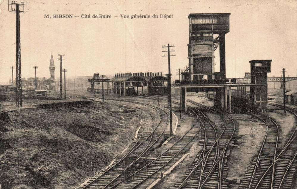 Hirson (Aisne) CPA les aiguillages du chemin de fer