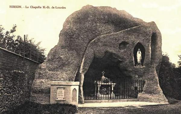 Hirson (Aisne) CPA la chapelle Notre-Dame de Lourdes