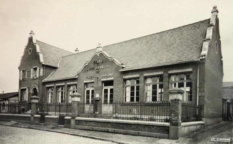 Hirson (Aisne) CPA l'école des Rouets