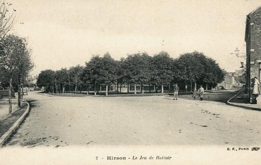 Hirson (Aisne) CPA le jeu de battoir