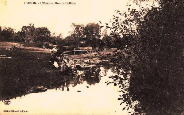 Hirson (Aisne) CPA l'Oise au moulin Delloue
