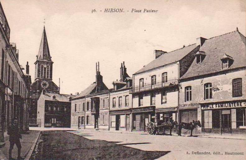 Hirson (Aisne) CPA la place Pasteur