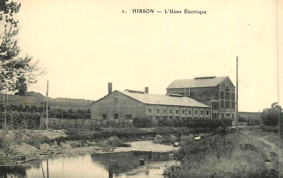 Hirson (Aisne) CPA l'usine électrique