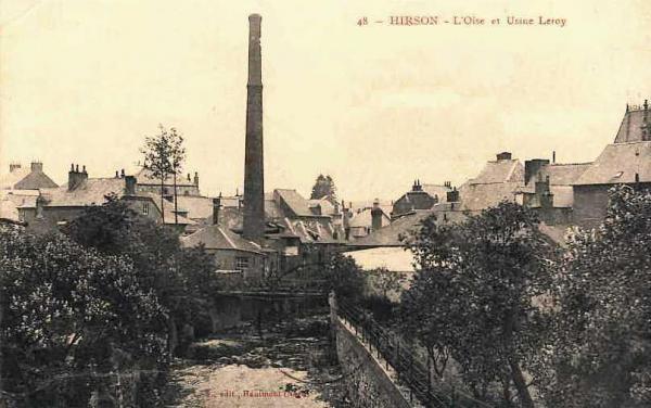 Hirson (Aisne) CPA l'usine Leroy