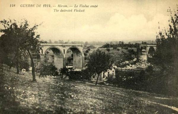 Hirson (Aisne) CPA le viaduc détruit en 1914